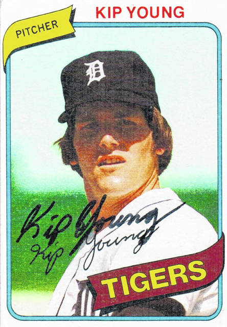 Mowrystown's own Kip Young was featured on a 1980 Topps baseball card when he was a pitcher for the Detroit Tigers.