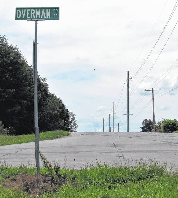 Commissioners approved a contract Wednesday for improvements to Overman Rd. and its intersection at Peterson Rd. County engineer Chris Fauber said drivers have experienced visibility safety issues for years on the rural roadway.