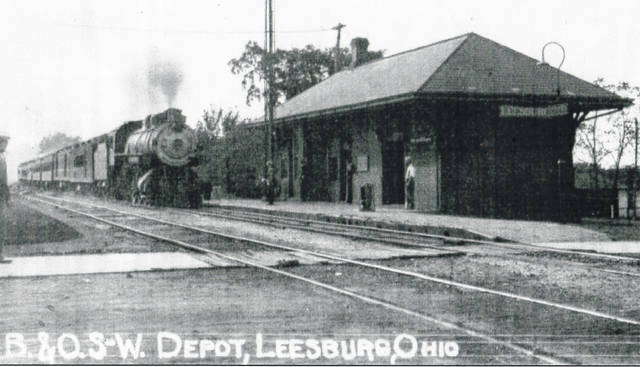 This how the train depot in Leesburg looked in the early 1900s.
