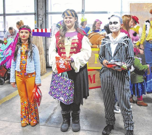 Some of the costume contest winners from last year's Boo Fest in Hillsboro are shown in this picture.