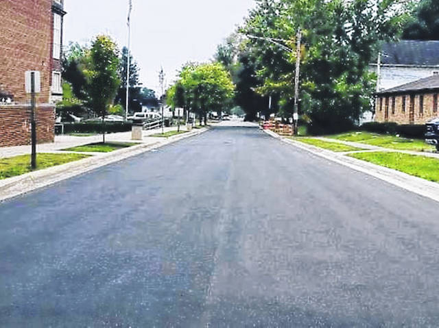 This photo shows improvements that have been made to Sixth Street in Greenfield.