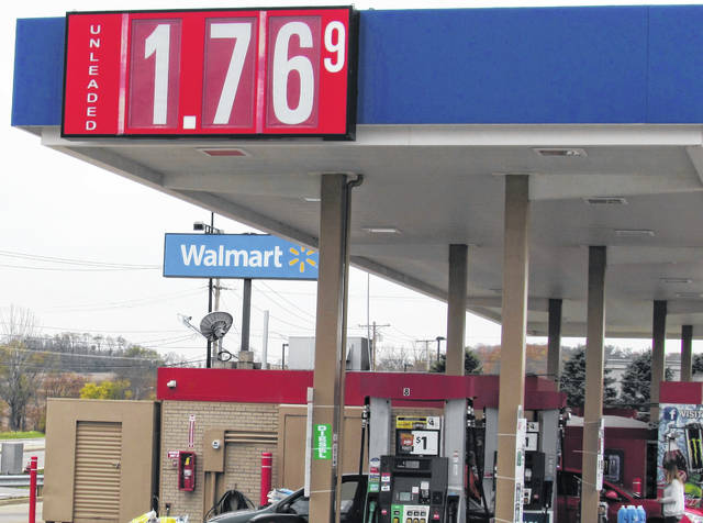 Gas prices hovered in the $1.77 per gallon range in Hillsboro Tuesday, but Walmart had the lowest price by a penny, posting $1.76 for self-serve unleaded fuel.