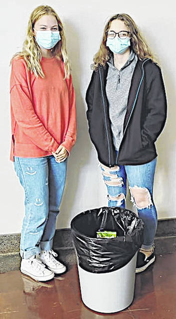 Pictured are McClain High School students Sarah Snyder (left) and Mia Snyder.