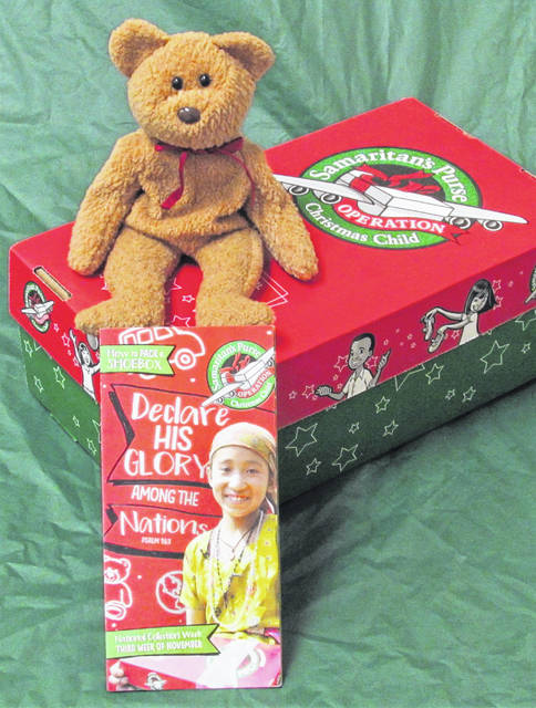 Another Operation Christmas Child shoebox is all ready for its trip to a little girl or boy in one of the more than 100 countries the ministry serves.