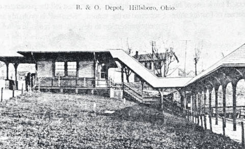 This is an old photo of the B&O Train Depot, formerly located in Hillsboro. The date the photo was taken is unknown.