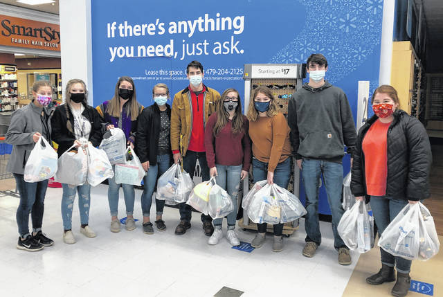 On Dec. 6, the McClain FFA Chapter officer team got together to go Christmas shopping for 13 kids. Each year the chapter adopts kids of various ages from Greenfield Elementary so they have presents to open on Christmas day. This is a chance for members to give back to our community, which has always supported us. Merry Christmas to everyone from the McClain FFA Chapter, and don't forget to give back during this holiday season!