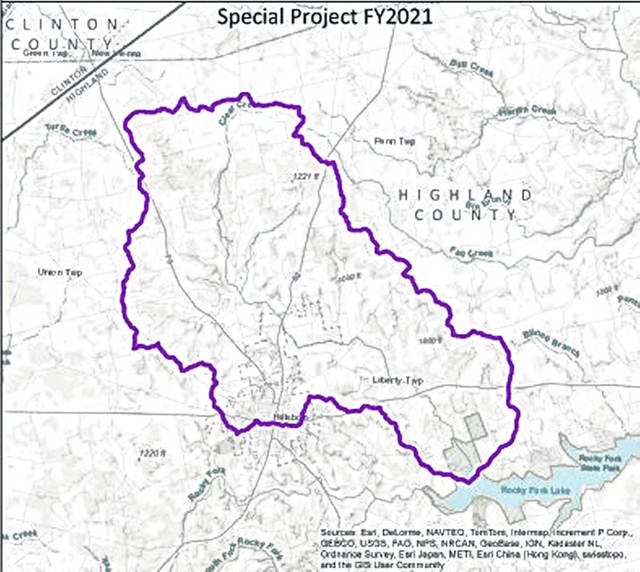 This graphic shows the Clear Creek Watershed.