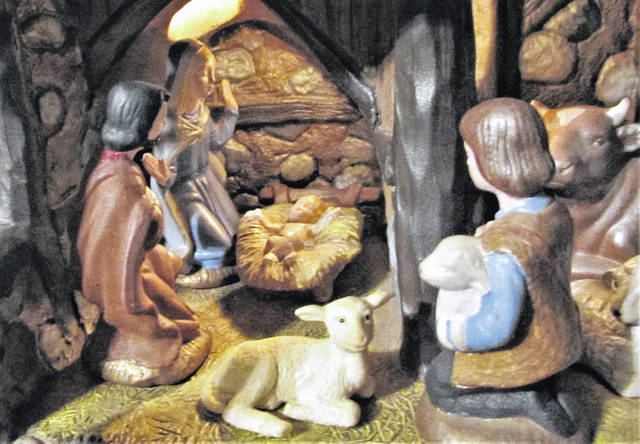 This nativity scene was painted by the mother of this story's author a few months before the mother's death.