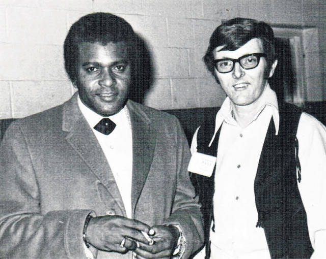 Charley Pride with Dayne Puckett in 1974.