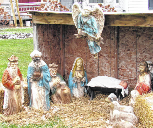This nativity is displayed outside the Turner and Son Funeral Home in Hillsboro. Even though the Bible says that the three wise men weren't present at the birth of Jesus, it is still a traditional reminder of the real reason for the season.