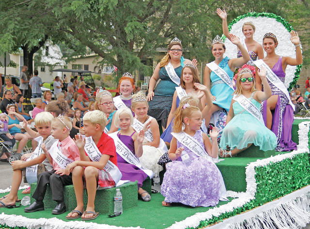 Royalty from the 2015 Greene Countrie Towne Festival are shown in this photograph. The Greenfield Rotary Club is cautiously hopeful of holding the festival again this year after it was cancelled a year ago due to COVID-19.
