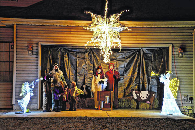 This photo shows part of a nativity scene created recently by members of Hardins Creek Church.