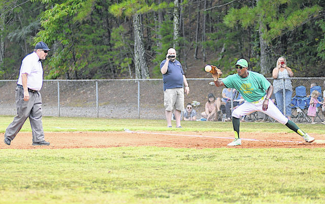 A scene from a game in the Alternative Baseball organization can be seen above involving people on the autism spectrum that play baseball according to traditional rules.