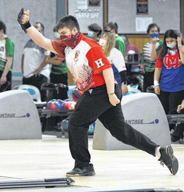 Hunter Springer led three Hillsboro boys on the All-Frontier Athletic Conference bowling team this year with a 219.38 average.
