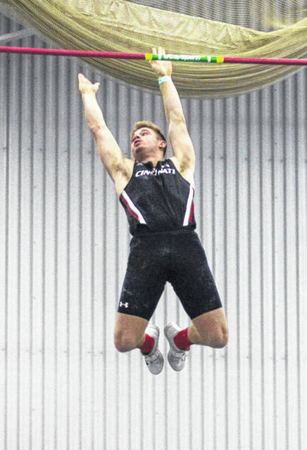 Austin Goolsby, a 2018 graduate of Hillsboro High School and sophomore at the University of Cincinnati, was named an American Athletic Conference Field Athlete of the Week on Tuesday. Goolsby, a one-time state champion and two-time state runner-up in the pole vault at Hillsboro, posted a new personal best at the H-Town SpeedCity series with a mark of 5.08 meters (16 feet, 8 inches) in the men's pole vault. This mark puts Goolsby in the UC record books, sharing the No. 6 spot with a Shane Shockey, who has held his spot since 2009. Goolsby also climbed into the NCAA top 50 with a national ranking of No. 43. The Bearcats are back in action this weekend, traveling north to Stile Fieldhouse to compete in the Al Campbell Invitational on Friday in Akron.