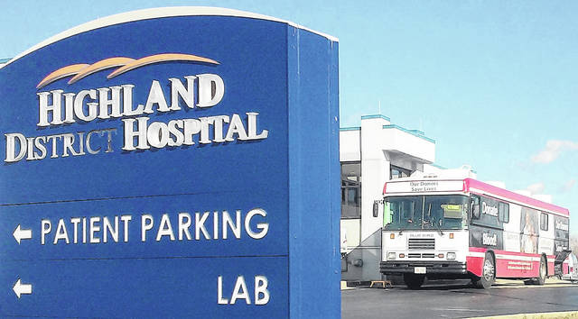 The Hoxworth Bloodmobile will visit Highland County six times through mid-May, with three of those visits being at Highland District Hospital.