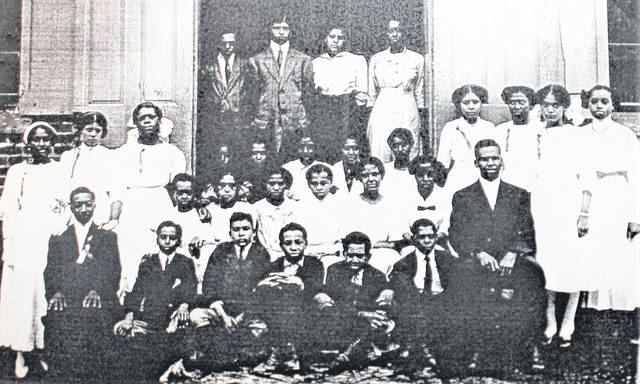 The 1910 graduates of the former Lincoln School in Hillsboro are pictured in this photograph provided by the Highland County Historical Society. February is Black History Month.