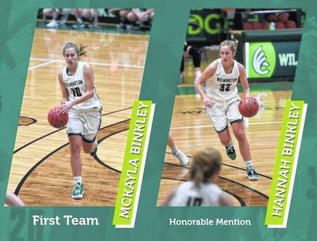 McKayla and Hanna Binkley were recently named to the All-Ohio Athletic Conference womens basketball teams.