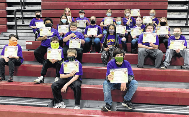 Fifth grade students at Buckskin Elementary are pictured recently at their DARE graduation.