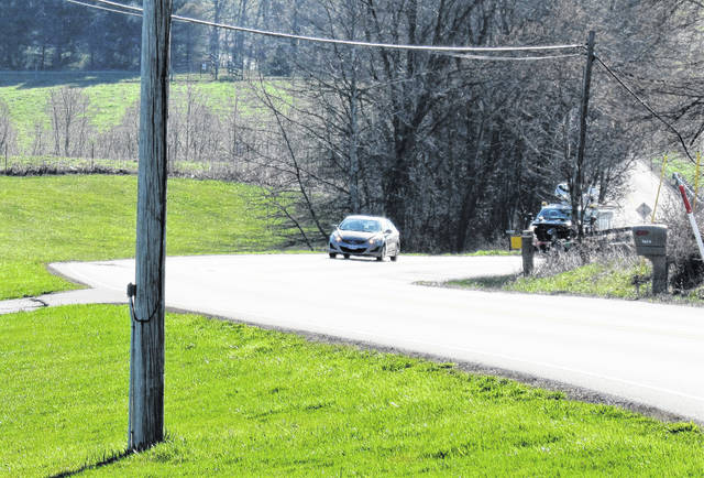 This photo shows a stretch of U.S. Route 50 where two Hillsboro residents were killed in a head-on crash Saturday morning. The crash scene is roughly one-tenth of a mile east of Vineyard Drive.