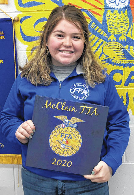 McClain FFA Reporter Maysun Faulconer is pictured.