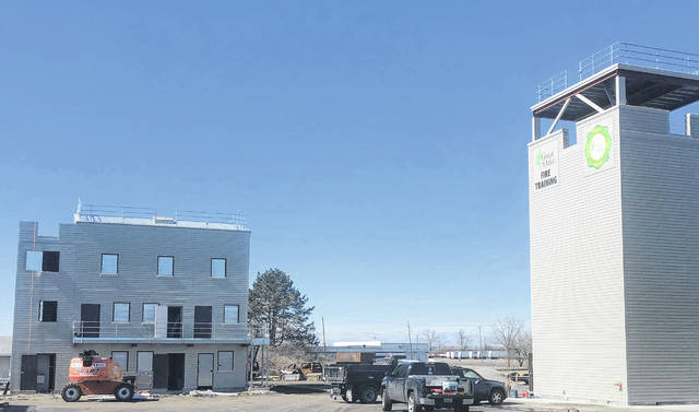 Great Oaks' new fire training facility and training tower in Sharonville are shown in this picture.