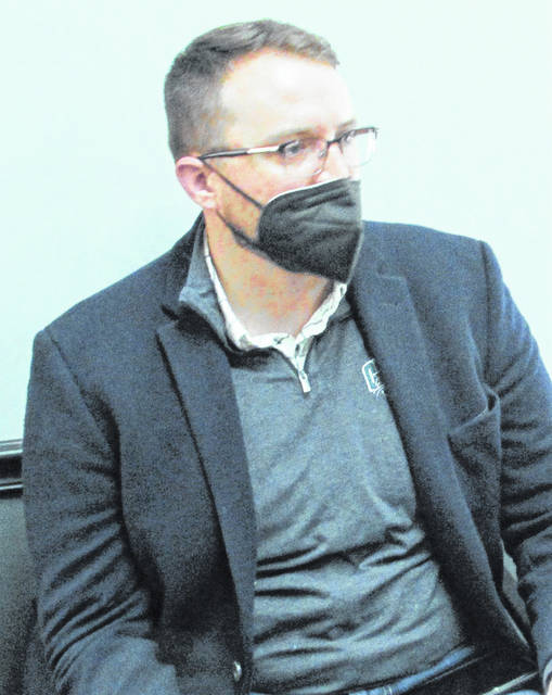 Hecate Energy Development Associate Jared Wren is pictured during Wednesday's meeting of the Highland County Board of Commissioners.