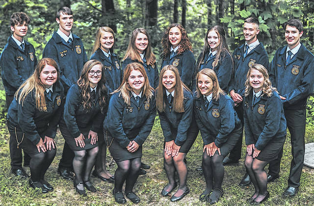 Every year the McClain FFA Chapter fills out a National Chapter Packet Application. For the past year the chapter's officer team worked to fill the application out. The McClain FFA Chapter is a gold-rated chapter. This award recognizes FFA chapters that actively implement the mission and strategies of the FFA organization. The award allows the National Chapter Packet to be judged for a Three-Star Chapter Award. Pictured are members of the 2020-21 McClain FFA Officer Team.