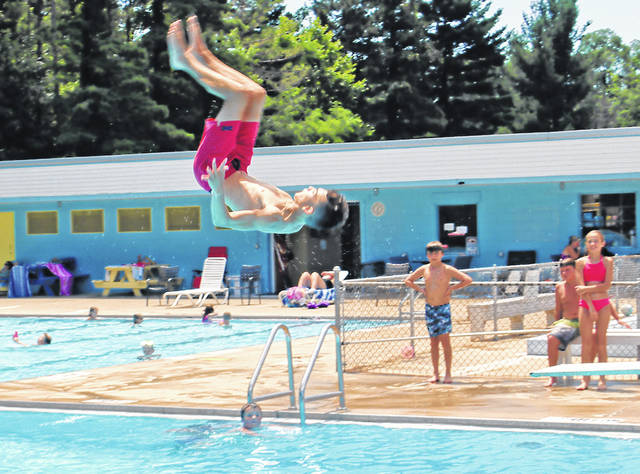 In this Times-Gazette file photo youngsters enjoy summer at the swimming pool in Hillsboro.
