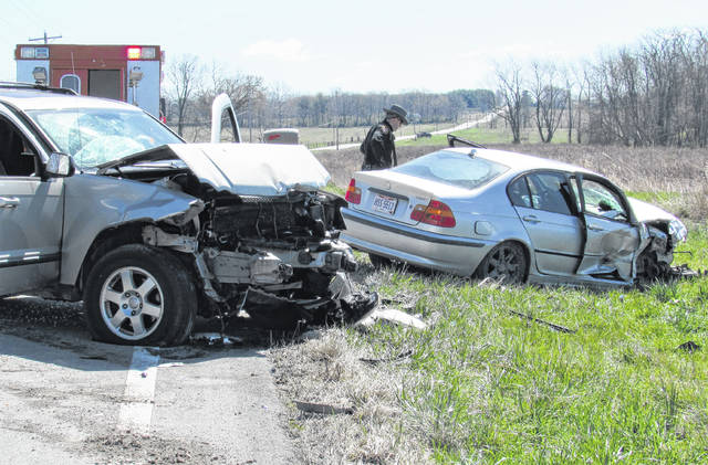 The driver of one vehicle and a passenger of another were transported to Highland District Hospital following a head-on crash shortly before 11:30 a.m. Friday on S.R. 124, approximately one-mile east of North Shore Drive. Trooper David Beck of the Wilmington Post of the Ohio State Patrol told The Times-Gazette that a silver BMW was traveling northwest on S.R. 124 when the vehicle went off the right side of the road, struck a guardrail and then returned to the highway before going left of center and striking a southeast bound Jeep SUV. Beck said the driver of the BMW was taken to Highland District Hospital while the passenger in the Jeep was transported from the scene and would be Careflighted to Miami Valley Hospital. Emergency personnel from Paint Creek Joint EMS/Fire District responded to the crash scene, along with the Highland County Sheriff's Office. Traffic was blocked and detoured in both directions on S.R. 124 by personnel from the Ohio Department of Transportation for over an hour. The names of those involved in the crash weren't immediately known due to the ongoing nature of the investigation.