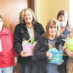 Highland County Christian Women make Easter baskets