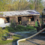 Fire totals dispatcher's home