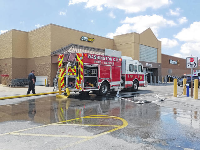 On Monday at approximately noon, customers and employees were evacuated from the Walmart store in Washington C.H. due to a fire in the building.