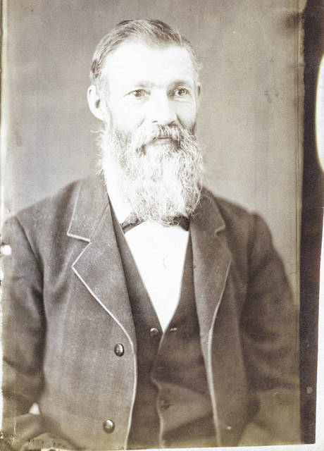 This full-page albumen contact print of Thomas Burge Ayres (1832-1906) was taken by William H. Downing.