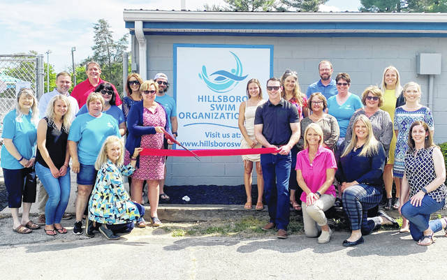 The Highland County Chamber of Commerce held a ribbon-cutting Wednesday for the Hillsboro Swim Organization, Inc. as it reopened the Hillsboro facility as a community pool. The chamber offered a special thanks to all the supporters who came to celebrate the event with the swim organization's board and staff.