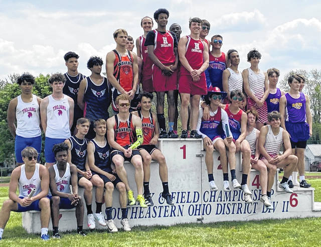 The Hillsboro 4 x 200-meter relay team took first place last week at the Division II Southeast District Track and Field Meet at Washington C.H. Members of the team were Logan Weber, Anthony Richards, Maliki Porter and Kai Rickman. The McClain team of Brandon King, Gavin Warren, Drayden Jett, Brandon Reedy took sixth.
