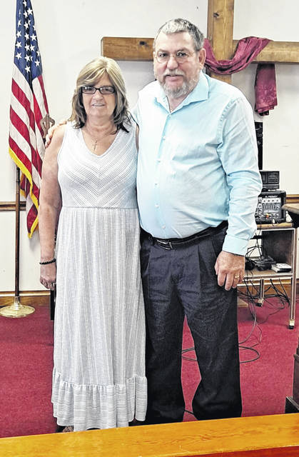 Rick Cole is the new pastor at the Harriett Church, located at 38912 Harriett Road, Hillsboro. He is pictured with his wife, Brenda. Cole previously pastored the Wesley Chapel Church of Christ in Christian Union for 12 years. On Sunday, June 13 after the morning service, there will be a reception for the public to meet the new pastor and his wife. Harriett Church service times are Sunday school at 10 a.m., Sunday morning worship at 11 a.m. and the Sunday evening worship service at 6 p.m. For more information call Pastor Cole at 740-222-0478.