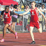 Division II regional track and field scenes