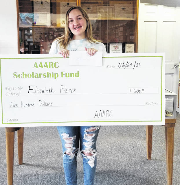 The African American Awareness Research Council (AAARC) recently award a $500 scholarship to Elizabeth Pierce, a graduate of the Hillsboro Christian Academy who plans on attending Southern State Community College.