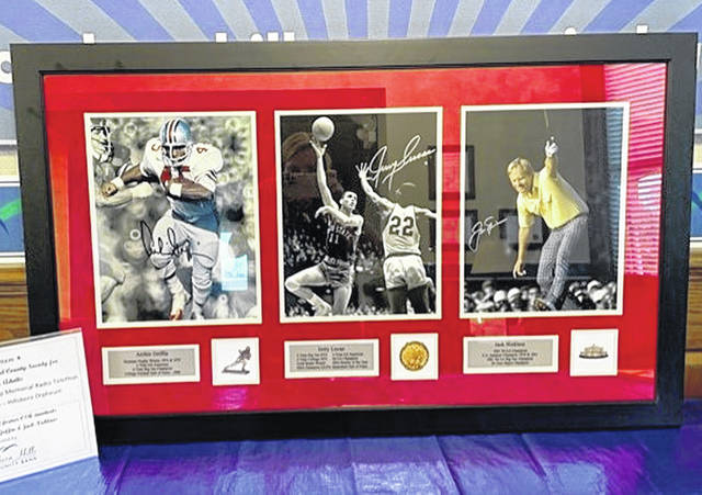 The trio of pictures featuring Ohio State legends Archie Griffin, Jerry Lucas and Jack Nicklaus will be auctioned during the 2021 Ernie Blankenship Memorial Radio-Telethon.