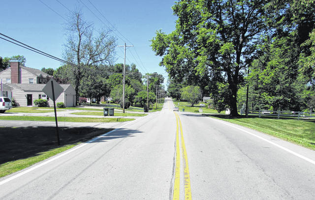 """Shown is the stretch of Danville Pike, from Oak Street to East Josie Avenue in Hillsboro, that will be cordoned off to traffic to allow film crews for the motion picture """"Bones and All"""" to shoot footage in and around a residence Monday."""