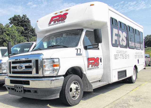 This is one of the FRS Transportation fleet vehicles that will soon be employed with the return of the Hillsboro/Greenfield transit loops, and the advent of inter-county transportation between Highland and Adams counties.