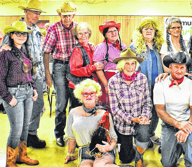 """Cast members from a previous """"Hee Haw"""" production at the Highland County Senior Citizens Center are shown in this picture."""