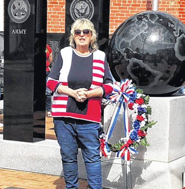 """Lessburg Mayor Shawn Priest expressed her apprecation for the help she received in putting together a Memorial Day observance Monday in """"The Friendly Village."""""""