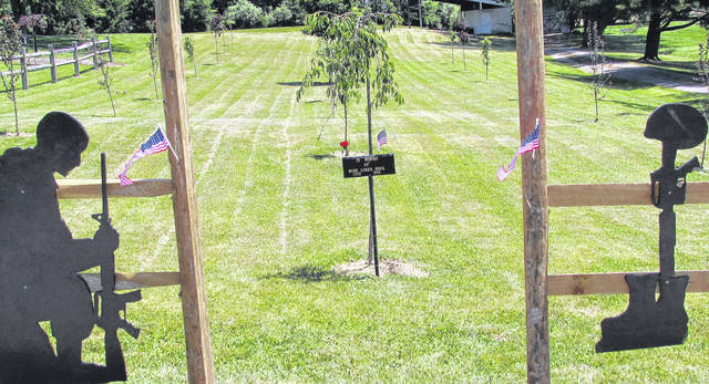 This picture shows the entrance to the new Vietnam Veterans Memorial Field at Hillsboro's Liberty Park