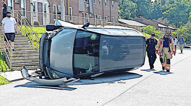 A van rolled over around 4:10 p.m. Saturday at the Highland Terrace Apartments parking lot in Hillsboro. Destiny Shelton, 18, of Hillsboro, was operating the 2007 Honda van in the parking lot when the vehicle struck a concrete pole near a set of stairs causing it to roll over on its side, according to the Hillsboro Police Department. There were no injuries reported. The police department said it does not issue citations for vehicle accidents that take place on private property.
