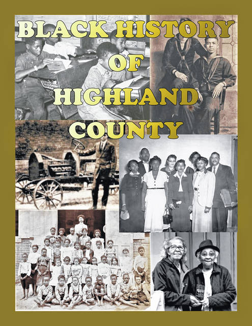 """This is the cover of a new book titled """"Black History of Highland County"""" that is currently available for purchase."""
