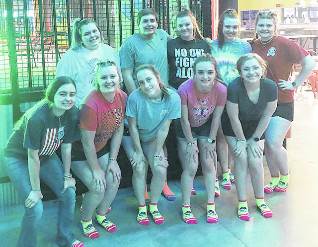 The 2021-22 Hillsboro FFA Officer Team is pictured at Urban Air during the June Officer Retreat (back row) Bre Cooper, Ben Florea, Ali Crago, Kaylee Earley and Riley Stratton; (front row) Jessica Howland, Hannah Hopkins, Trinity Edenfield, Ashley Kimball and Erin Hedges.
