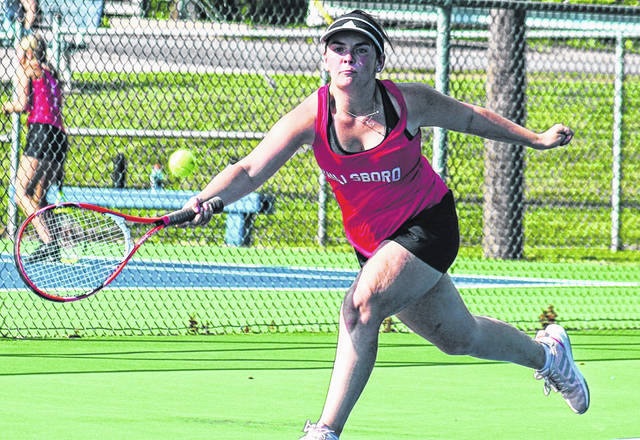 Hillsboro's Sara Newsome is pictured last week during her victory over Washington's Addy Newsome.