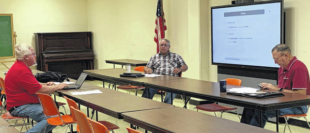 Pictured (l-r) are Highland County Community Action Organization Housing Director Mark Current and Highland County commissioners Jeff Duncan and Terry Britton as they discuss county properties.